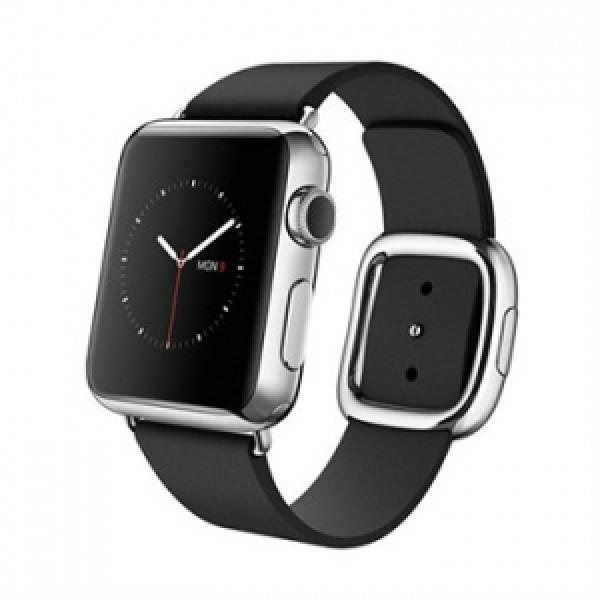 Apple Watch 38mm Stailnless Steel Case with Black Modern Buckle (MJYM2)