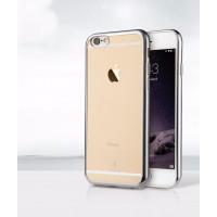 Чехол Накладка для iPhone 6 Baseus ShiningCase (Серебристый) (Силикон)