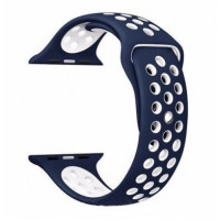 Ремешок-браслет для Apple Watch 38mm Silicone Nike Sport Band (Midnight Blue-Blue)