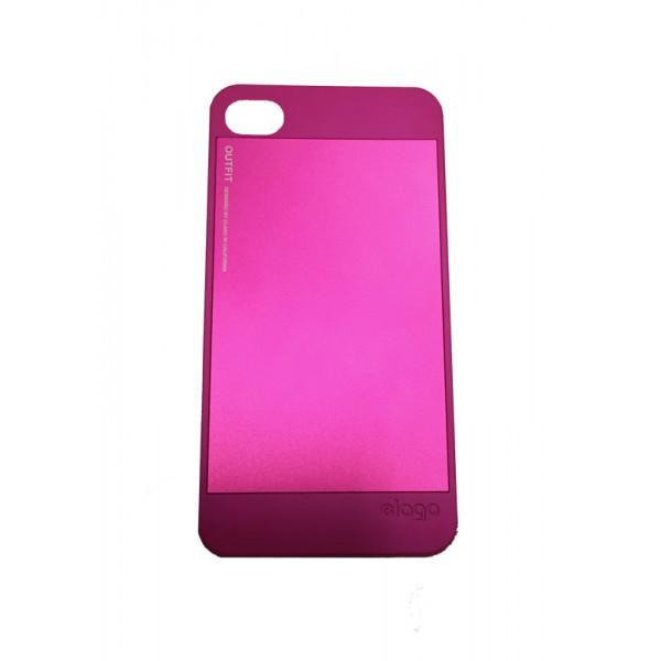 Чехол Накладка для iPhone 4/4S ELAGO Outfit (Розовый) (Пластик)