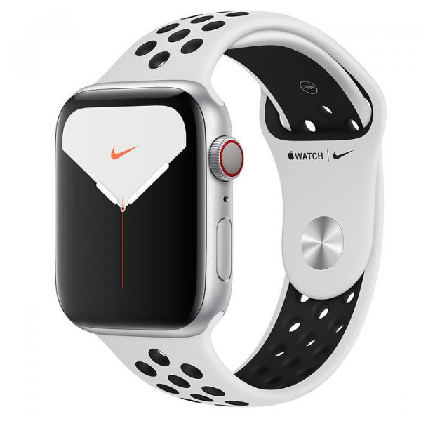 Apple Watch Nike Series 5 LTE 44mm Silver Aluminum Case with with Pure Platinum/Black Nike Sport Band (MX392, MX3E2)