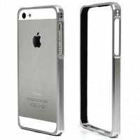 Бампер для iPhone 5/5S COTEetCL (Серебристый) (Алюминий)