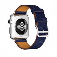Ремешок для Apple watch 42 mm Single Tour Deployment Buckle (blue)