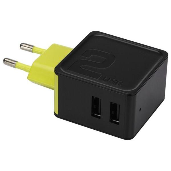 Сетевое зарядное устройство Rock Sugar Travel 2 Port (black)