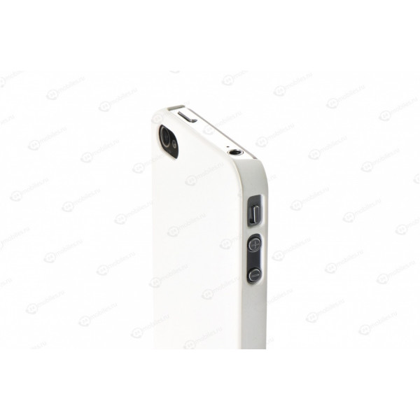 Чехол Накладка для iPhone 4/4S MOBILE CASE (Белый) (пластик)