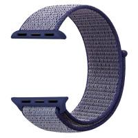 Ремешок для Apple Watch 42mm Nylon Sport Loop Band (Midnight Blue)
