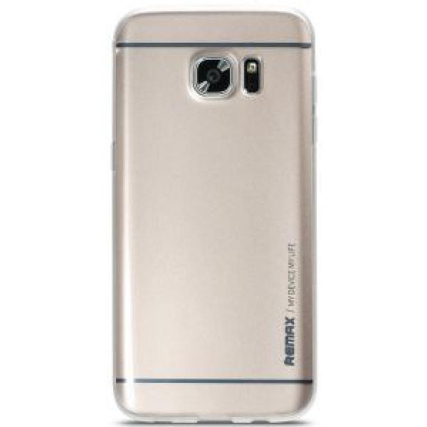 Чехол накладка Remax Crystal Kingzone TPU for  Samsung S7 Edge Silver