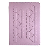 Чехол книжка iPad (2017/18) Slim Case leather (love pink)