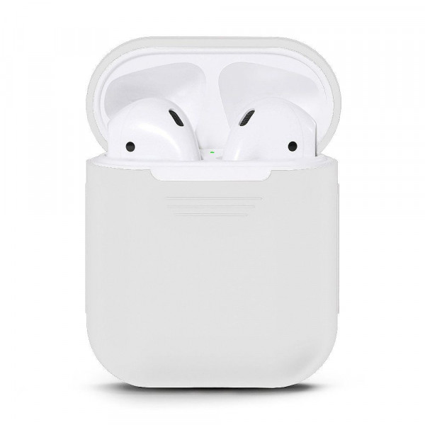Чехол для AirPods Silicone Case matte (White)