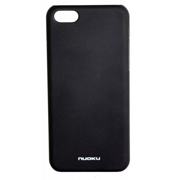 Чехол Накладка для iPhone 5C NUOKU FRESH (Черный) (Пластик)