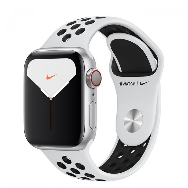 Apple Watch Nike Series 5 LTE 40mm Silver Aluminum Case with Pure Platinum/Black Nike Sport Band (MX372, MX3C2)