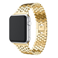 Ремешок-браслет для Apple Watch 38mm/40mm Honeycombs Metall (Gold)
