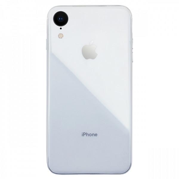 Чехол накладка iPhone Xr  Glass Silicone Case Logo (white)