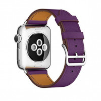 Ремешок для Apple watch 38 mm Single Tour Deployment Buckle (purple)