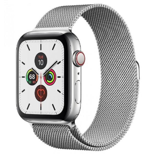 Apple Watch Series 5 LTE 44mm Steel w. Steel Milanese Loop - Steel (MWW32, MWWG2)