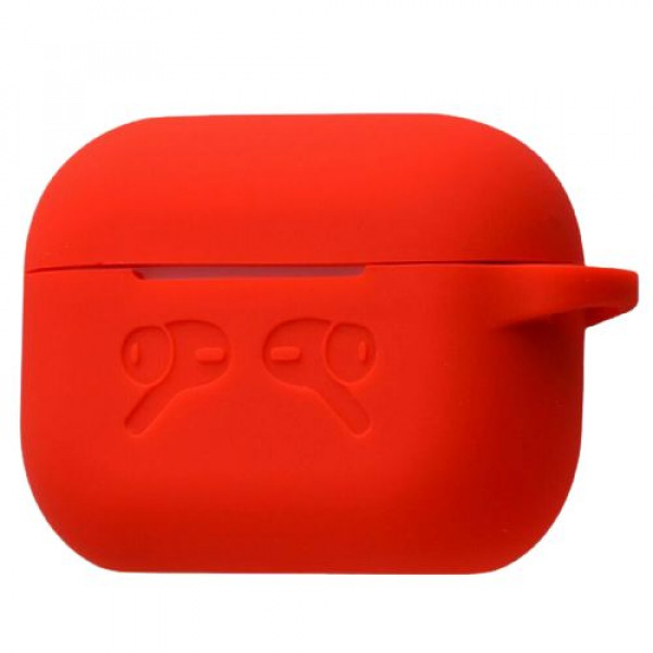 Чехол для AirPods Pro Silicone Case with Logo (Red)