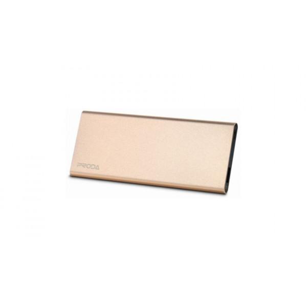Портативное зарядное устройство PRODA POWER BANK Vanguard PP-V08 (SLIMS) (8000mAh) (Золотой)