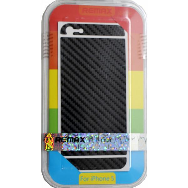 Защитная Пленка для iPhone 5/5S  REMAX CARBON (Черный)