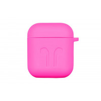 Чехол для AirPods Silicone Case with Logo and Carbine (pink)