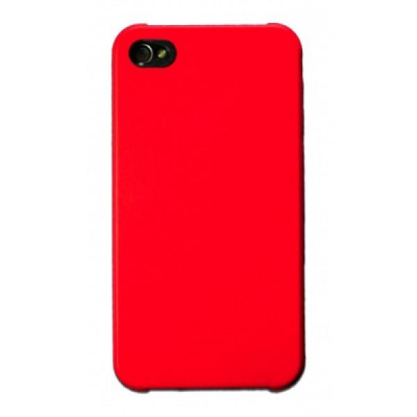 Чехол Накладка для iPhone 4/4S MOBILE CASE (Красный) (пластик)