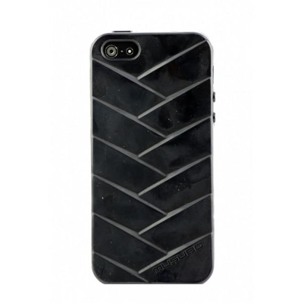 Чехол Накладка для iPhone  5/5S MUSUBO MYMMY (Черный) (Силикон)