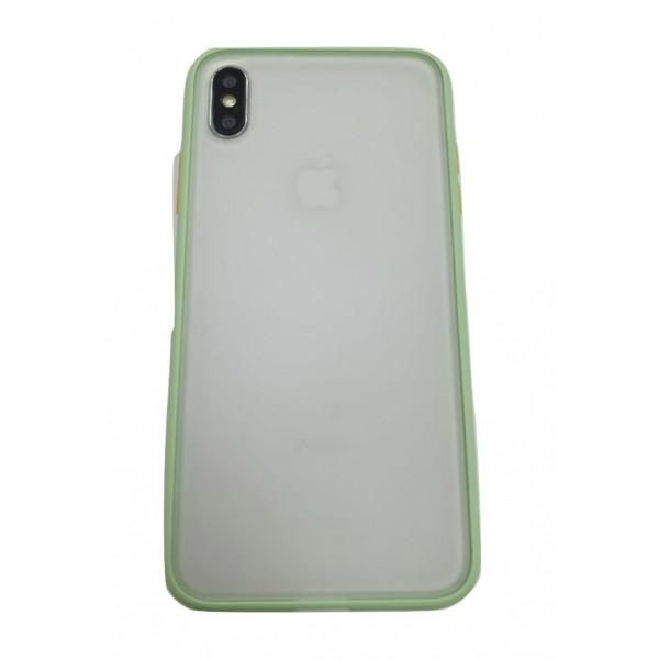 Чехол накладка iPhone Xs Max Gingle Series (mint/orange)