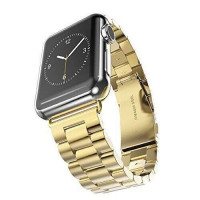 Ремешок-браслет для Apple watch 38mm/40mm Metal Steel Old 3-Bead (Gold)