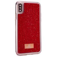 Чехол накладка iPhone XS Max The Bling World LCPC Silver+TPU Case (red)