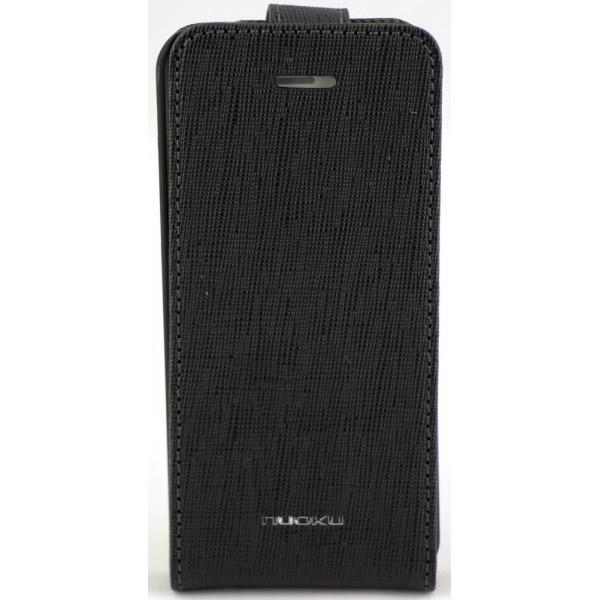 Чехол Флип для iPhone 5C NUOKU CRADLE (Черный) (Преcсованая кожа)