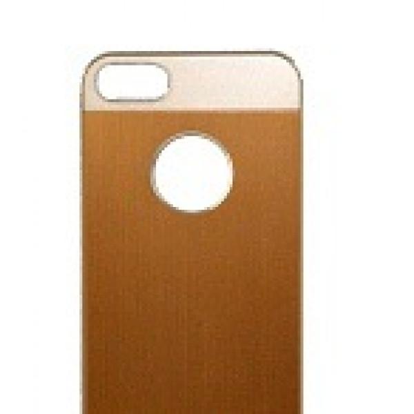 Чехол Накладка для iPhone 5C IBacks Heart (Золотой) (Метал)