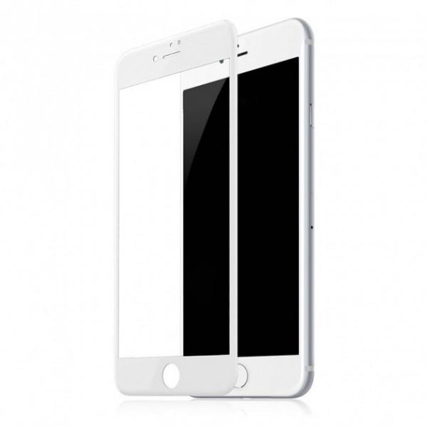 Защитое стекло 3D Lention Glass Protective for iPhone 7 (Белый)