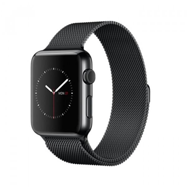 Apple Watch 42mm Space Black Stainless Steel Case, Space Black Milanese Loop (MMG22)