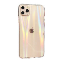 Чехол Накладка для iPhone 11 Pro Max Rainbow Case (Clear)