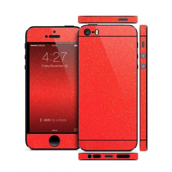 Защитная Пленка для iPhone 5/5S SLIMSKIN (360) (Красный) (Diamond)