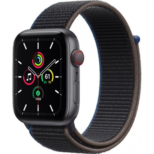 Apple Watch SE GPS + Cellular 44mm Space Gray Aluminum Case with Charcoal Sport L. (MYEU2, MYF12)