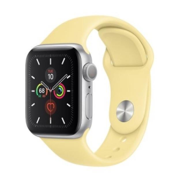 Apple Watch Series 5 GPS 44mm Silver Aluminum with Lemon Cream (MWT32)