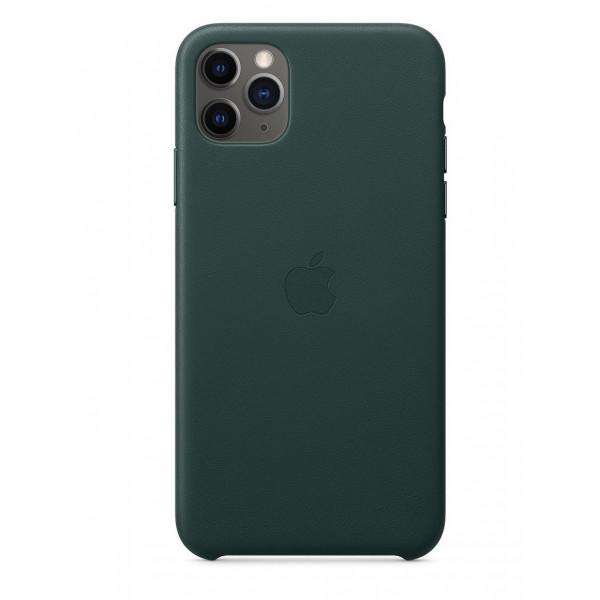 Чехол Накладка для iPhone 11 Pro Apple Leather Case (Green Forest)