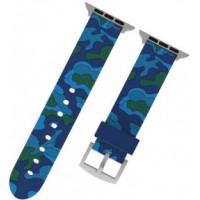 Ремешок-браслет для Apple Watch 42mm/44mm Military Silicone Band (Blue)