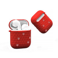 Чохол для AirPods Wiwu Shell Honeycombs Case (red)