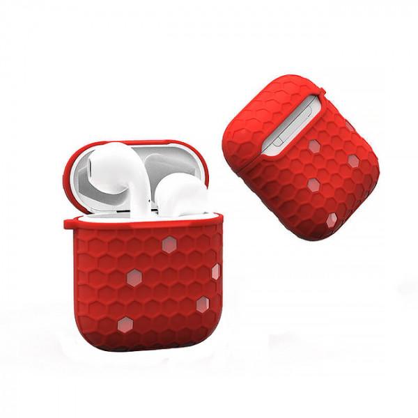 Чехол для AirPods Wiwu Shell Honeycombs Case (red)