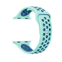 Ремешок-браслет для Apple Watch 38mm Silicone Nike Sport Band (Mint-Blue)