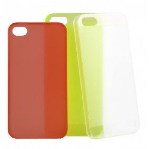 Чехол Накладка для iPhone 4/4S Ultra Slim Case (Красный) (Пластик)