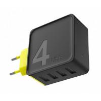 Сетевое зарядное устройство Rock Sugar Travel 4 Port (black)