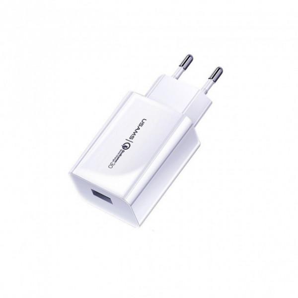 Сетевое зарядное устройство Usams Single USB 3A (white)