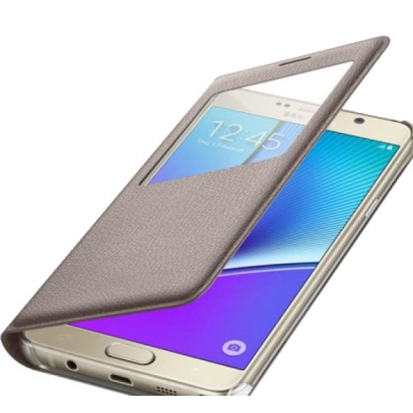 Чехол книжка Original Samsung Galaxy Note 5 Gold
