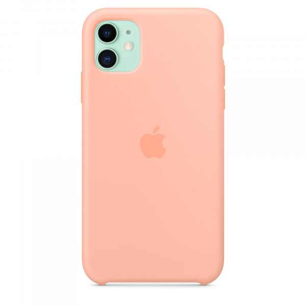 Чехол Накладка для iPhone 11 Apple Silicon Case (Grapefruit) (Полиулетан)