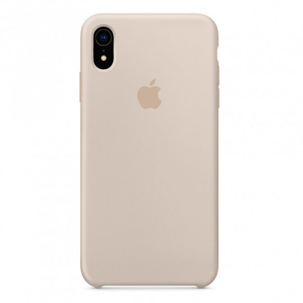 Чехол Накладка для iPhone Xr Apple Silicon Case (Stone) (Полиулетан)
