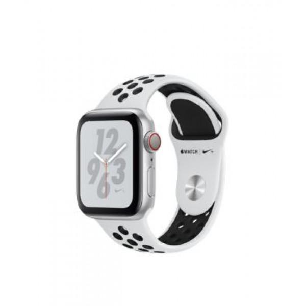 Apple Watch Nike+ Series 4 GPS + LTE 40mm Silver Alum. w. Platinum/Black Nike Sport b. Silver Alum. (MTV92)