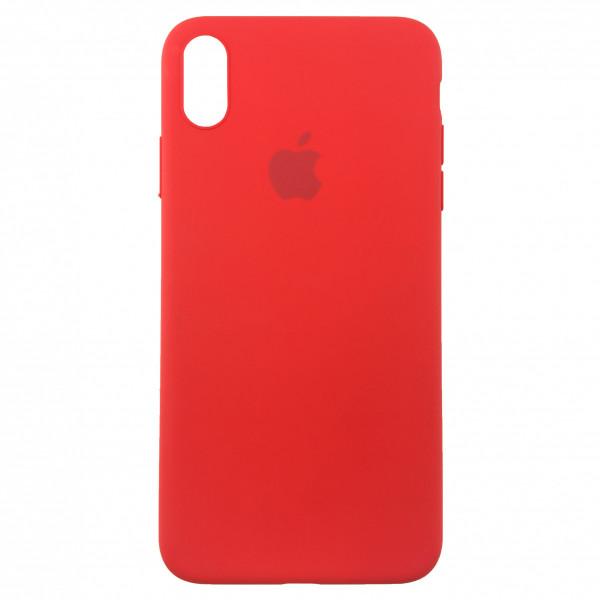 Чехол Накладка для iPhone Xs Max Apple Silicon Slim Case (red) (Полиулетан)