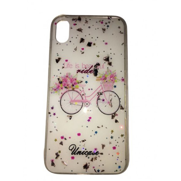 Чехол накладка iPhone Xr  Magic Bicycle (white)